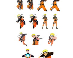 13.095.8 - Kit patchaplique Naruto com 13 unidades