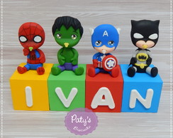Cubos Decorados Super Herois Baby
