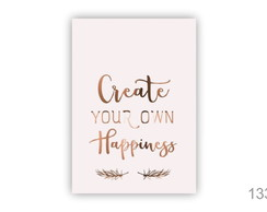 Quadro decorativo create your own happiness 1335