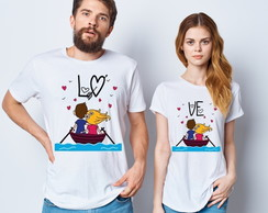 Kit Camiseta Casal Love