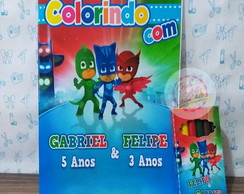 Kit de Colorir Pj Mask