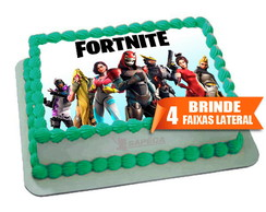 Papel arroz fortnite + Brinde Faixas Laterais
