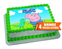 Papel arroz George Peppa Pig + Brinde Faixas Laterais