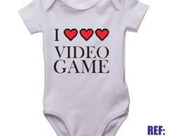 Body Infantil I Love Video Game Roupinha Bebê