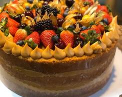 Naked Cake Morangos Ao Patissiere | Elo7