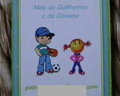 Mommy card: Azul e verde