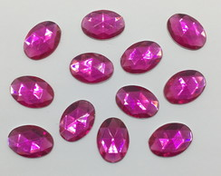 Chaton Oval Pink 13x18mm 100 unidades