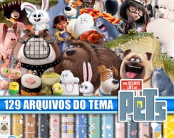 Kit Scrapbook Digital Pets a Vida Secreta dos Bichos