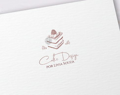 Logotipo Cake Designer Confeitaria Chef - EXCLUSIVO