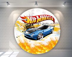 Arte Digital para Painel Redondo Hot Wheels