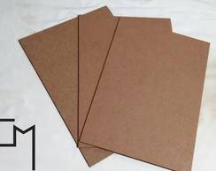 Kit 30 Placas MDF A4 Cru 3mm Artesanato 21x29,7 cm