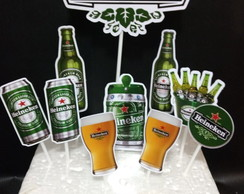 Topo De Bolo Personalizado Cerveja Heineken Para Imprimir Elo7