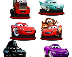 Kit 12 Display Carros Disney Mcqueen Cars Lembrancinhas Mdf