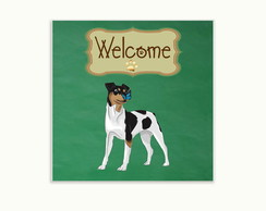 Quadro Decorativo Welcome Fox Paulistinha
