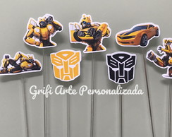 Topper - Totens - Aplique - Tags - bumblebee