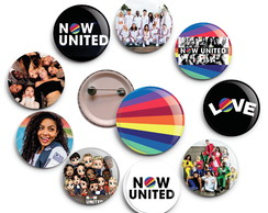 Botons Now United - Broche - Buttons