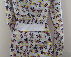 Jaleco estampado do Mickey