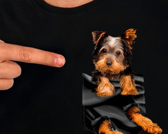 Camisa Camiseta Pet no Bolso Yorkshire Terrier 2 - Cachorro