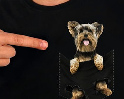 Camisa Camiseta Pet no Bolso Yorkshire Terrier 1 - Cachorro