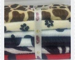 Kit Velboa Estampado Animal Print sortido 6tecidos