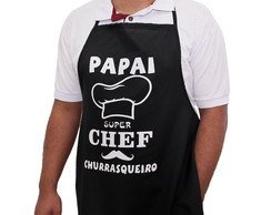 AVENTAL PAPAI SUPER CHEF CHURRASQUEIRO PRESENTE PAI