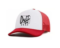 Boné Duff Beer Os Simpsons Trucker Aba Curva Bordado