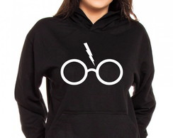 Moletom Canguru Feminino Harry Potter Glass
