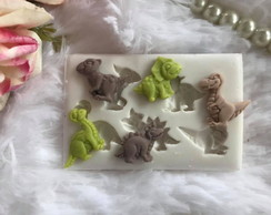 Molde De Silicone Dinossauro Doces Pasta Americana Biscuit