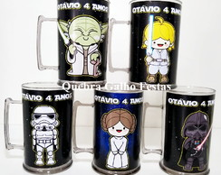 Caneca Star Wars Cute Personalizada 400Ml Colorida