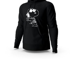 Blusa de Frio Moletom Snoopy Joe Cool Preto Unissex