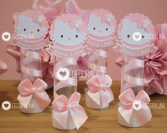 Lembrancinha Hello Kitty Luxo Tubete Hello Kitty Rosa