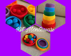 Kit cestos montessori de crochê