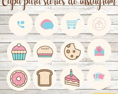 Capa Destaque Stories Instagram - Confeitaria