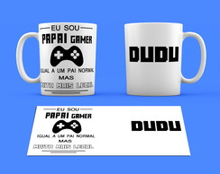 Estampa / Arte Digital para Caneca Papai Gamer