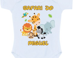 Body Safari Personalizado Com Nome Do Bebe Avulso Barato
