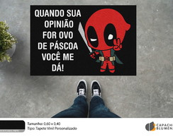 Capacho Divertido - Deadpool