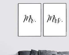 Quadro Digital Mr e Mrs