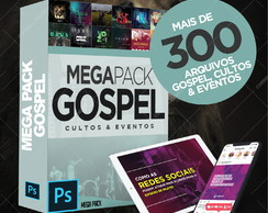 Pack Pacote Kit Gospel Social Media Editavel PSD