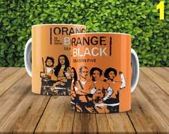 CANECA PERSONALIZADA ORANGE BLACK BF3