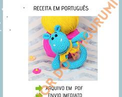 Amigurumi Receitas Português - Girafa Amigurumi de Crochê Parte 02 ... | 194x244