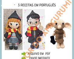 Amigurumi Harry Potter modelo 02 no Elo7 | Dona Gatta Crochê (F0EB69) | 194x244