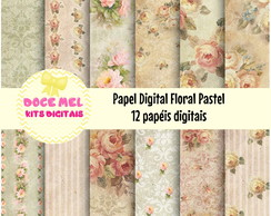 Papel Digital: Floral Pastel