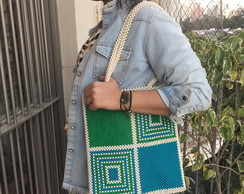 Bolsa de contas Labirinto - beaded bag