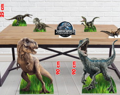 Kit Festa Jurassic World Diplays De Chão E Mesa