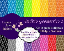 Kit Papel Digital Padrão Geométrico 1