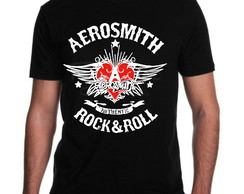 Camiseta Aerosmith Banda de Rock
