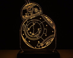 Abajur Luminária LED Star Wars BB-8 Decorativa | BB8