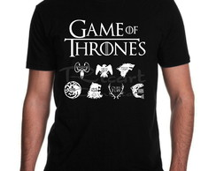 Camiseta Game Of Thrones Simbolos