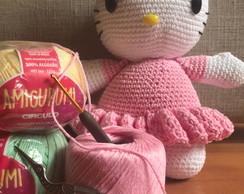 Amigurumi Hello Kitty Bailarina no Elo7 | Grochet por Fernanda ... | 194x244