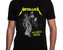 Camiseta Metallica Banda de Rock